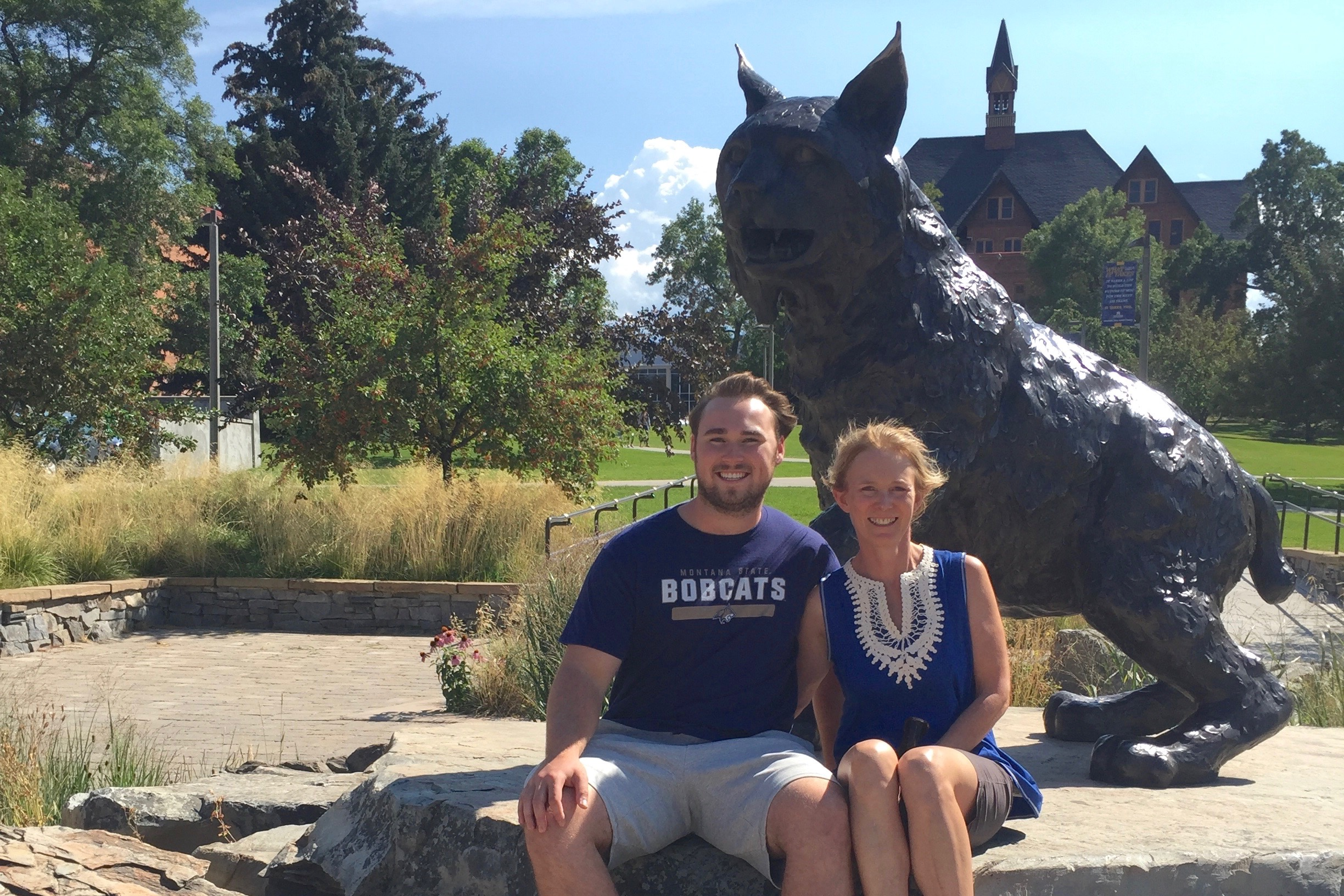 Bobcat freshman and his mom