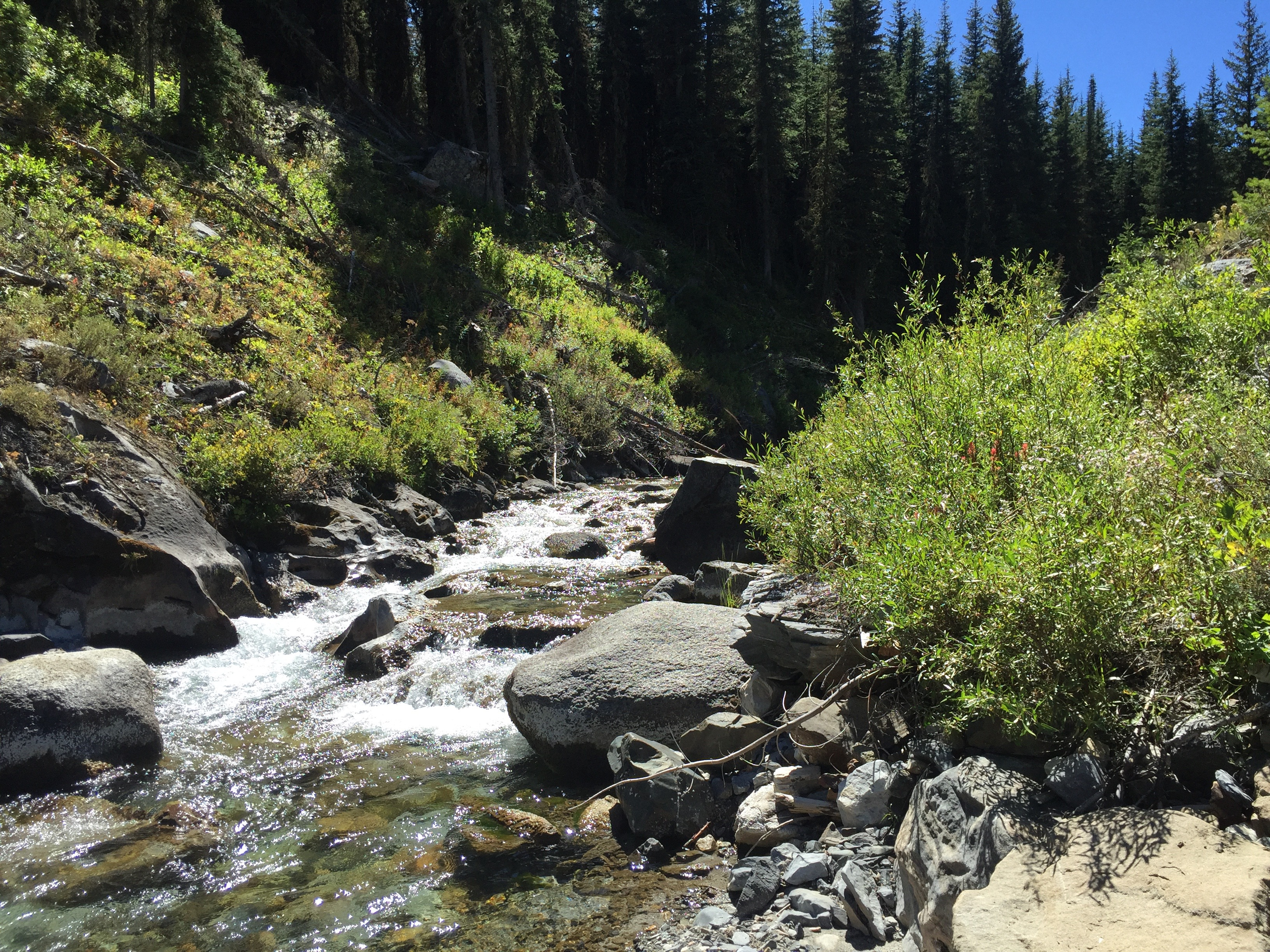 Hurricane Creek in the Wallowa Mountains and Eagle Cap Wilderness
