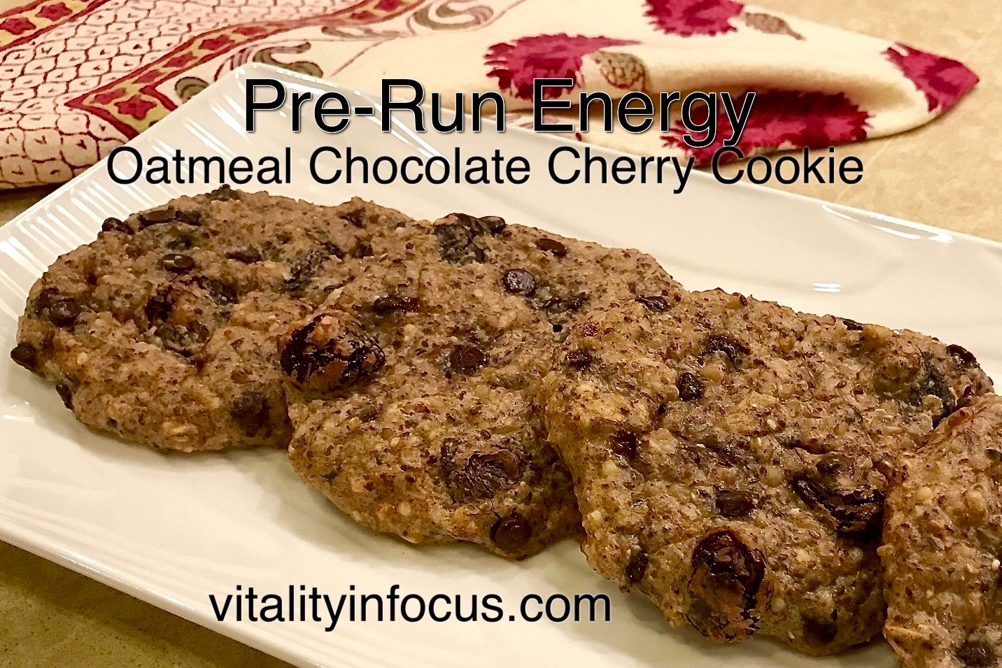 Oatmeal Chocolate Cherry Energy Cookie
