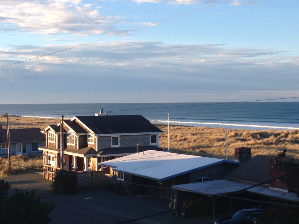 view of the ocean and beach in Manzanita, Oregon