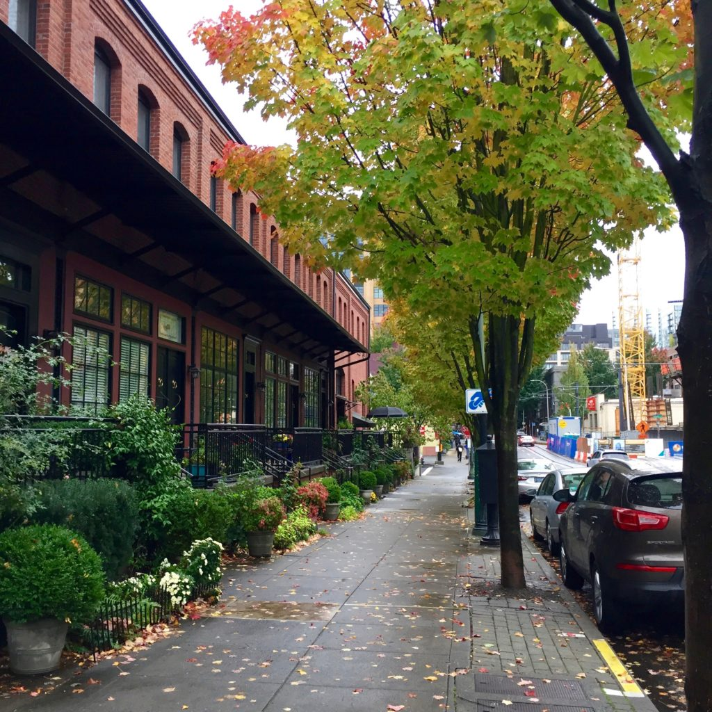 Portland street in the rain