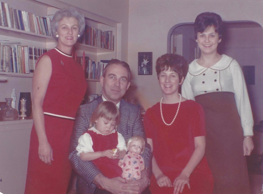 Family photo from Christmas 1965